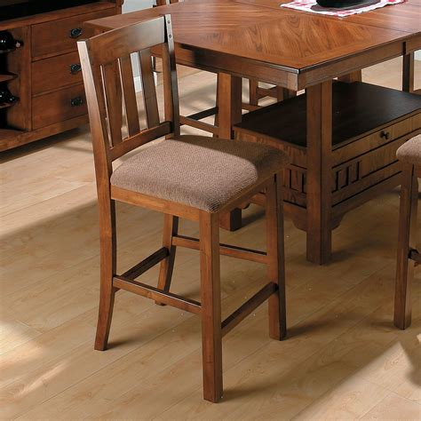 jofran saddle brown counter height chair 2 chairs at