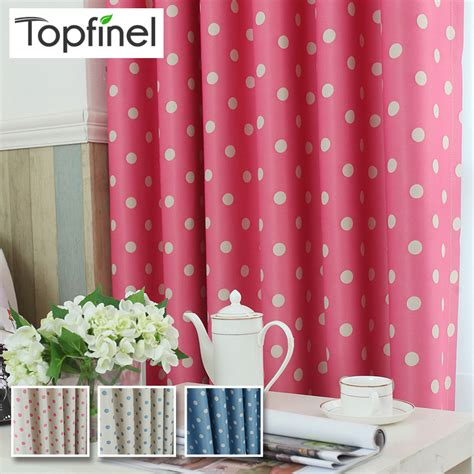 top finel polka dots blackout window curtain panel