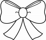 Bow Coloring Clip Sweetclipart sketch template