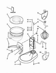 Base And Pedestal Unit Diagram  U0026 Parts List For Model Kf26m2xer5 Kitchenaid