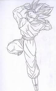 Dragon Ball Z How To Draw Goku Pencil Art Drawing