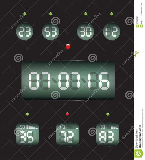 countdown timer date clock stock vector image
