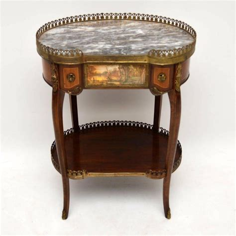 antique marble top side table pair of antique french marble top side tables for sale at