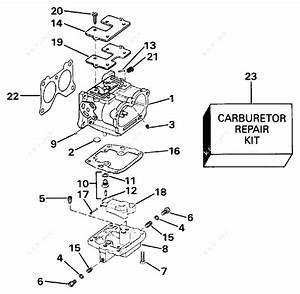 Evinrude 1990 150 - E150txesb  Carburetor