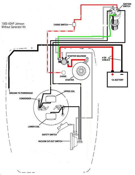 1967 Mercury Wiring Diagram Starter System by 1966 33hp Johnson Electric Start No Generator Wiring