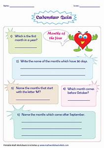 Days  Months And Seasons  Charts And Worksheets