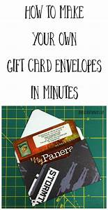 how to make your own gift card envelopes paper craft junkie With how to print your own envelopes