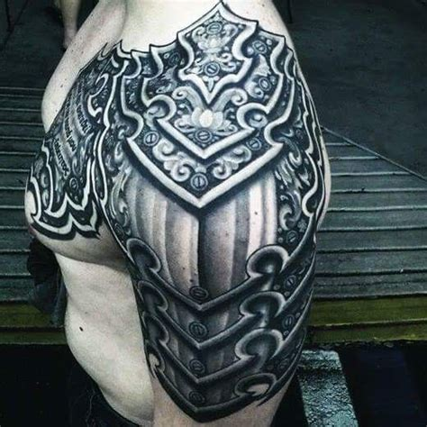 shoulder armor tattoo ideas  pinterest armor