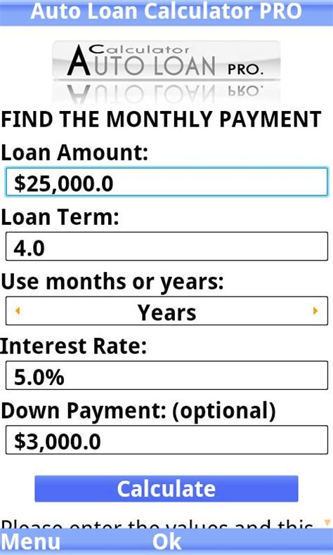 auto loan calculator pro android apps  google play