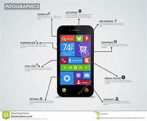 Creative Infographic Template Layout With Smartphone