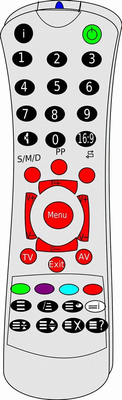 Remote Control Clip Clipart Vector Television Bulletin