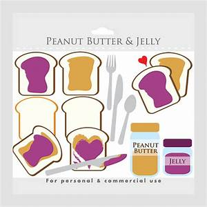 Peanut butter and jelly clipart toast peanut butter jam