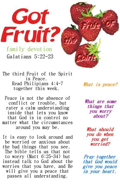 fruit of the spirit lesson on peace and worry great for 848 | 561d95a944ae5d123aa0444c7caafa7a