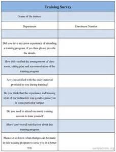 Sample Training Needs Survey Form