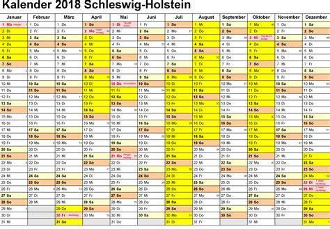 kalender schleswig holstein  ausdrucken ferien