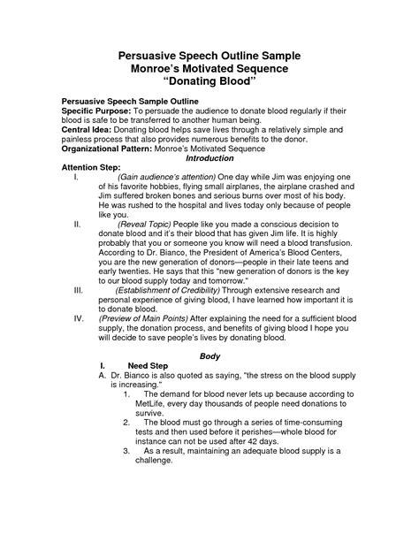 persuasive speech template persuasive speech outline template madinbelgrade