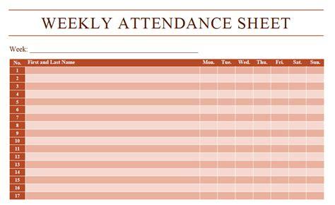 attendance sheet templates templates assistant