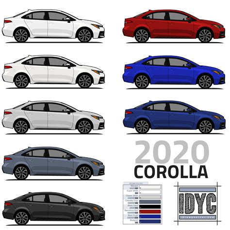 When Will The 2020 Toyota Corolla Be Available by I Drew The 2020 Corolla In Every Available Color Corolla