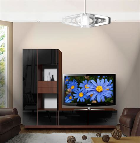 scarlett  shaped tv stand unique  shape contempo space