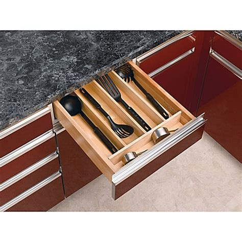 drawer inserts for kitchen cabinets rev a shelf wood cabinet drawer utility tray insert bed 8825