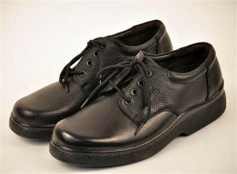 mens black restaurant work shoes genuine leather slip