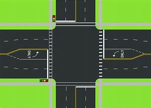 File Street Intersection Diagram Svg