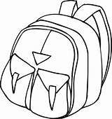 Backpack Outline Coloring Clipart Clip Drawing Printable Cliparts Library Bag Line Pockets Point Clipartpanda Sheet Boat Student Clipartmag Train Hulk sketch template