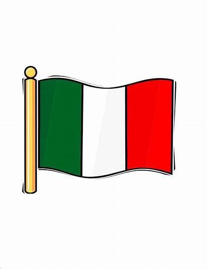 Flag Italian Italy Clipart Restaurant Cliparts Clip