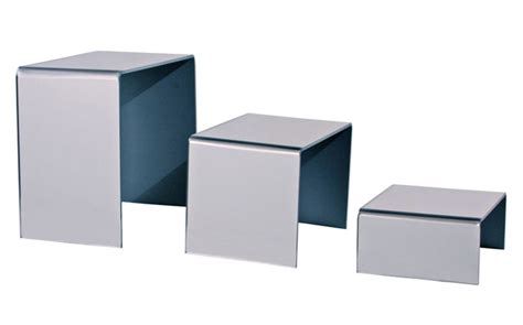 table top display risers acrylic mirror riser merchandise table top display stand