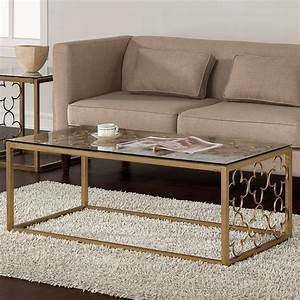 quatrefoil goldtone metal and glass coffee table by i love With gold tone coffee table