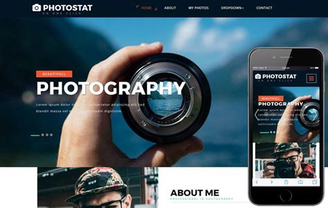 photostat  photo gallery category bootstrap responsive