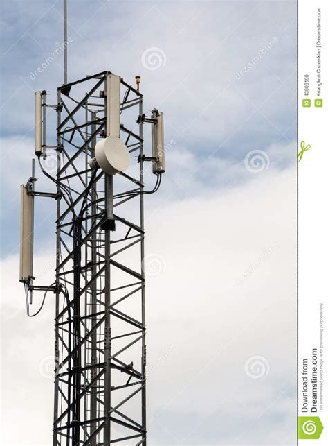 radio bureau radio antenna in bureau of the royal household stock photo