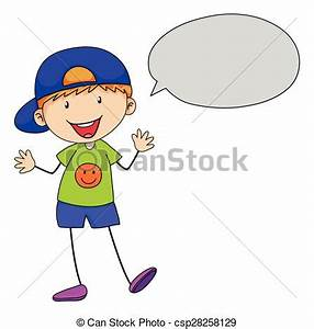 Boy talking. Boy speaking with speech bubble vector ...
