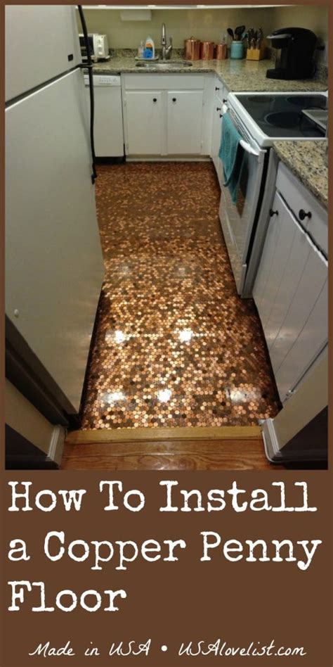 kitchen floor made out of pennies how to install a copper floor a made in usa diy 9373