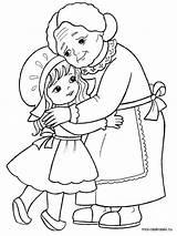 Grandma Coloring Pages Printable sketch template
