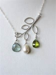 Mother's Birthstone Necklaces with Children