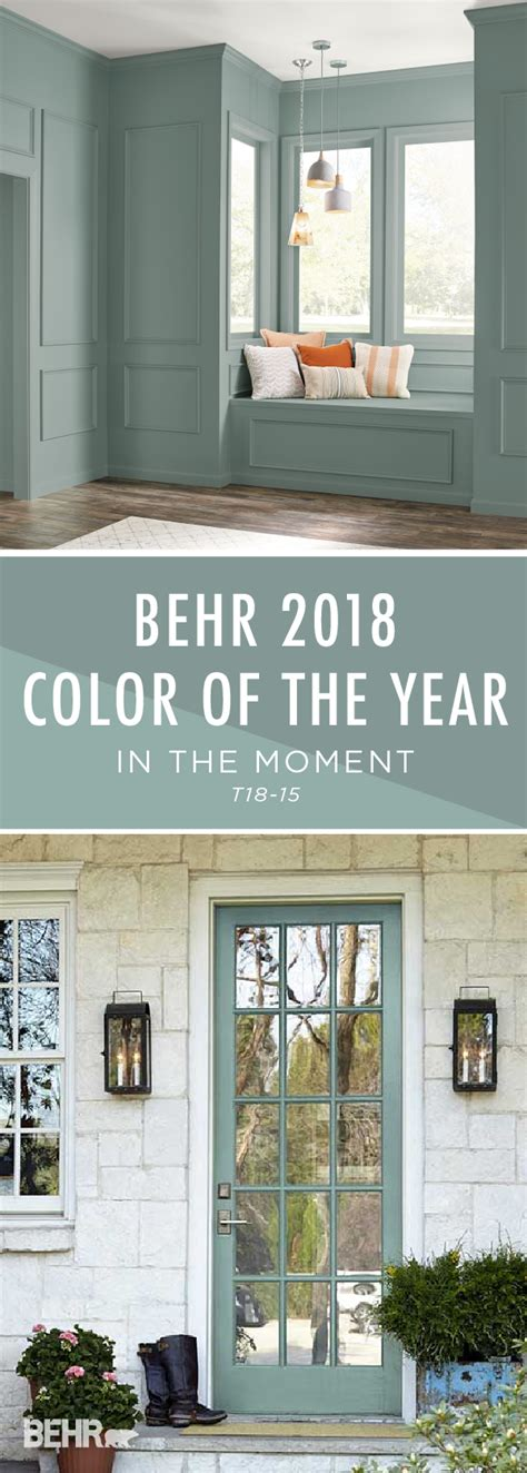 introducing the behr 2018 color of the year in the moment