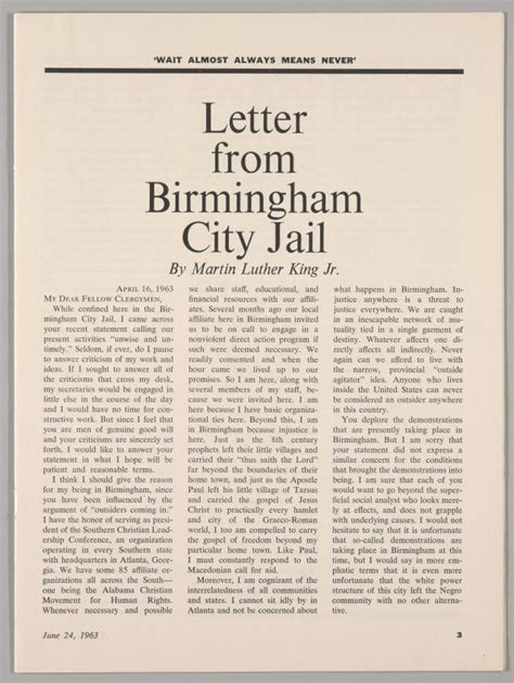 the new leader mlk 39 s letter from birmingham jail page 3