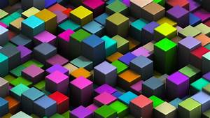 Colorful Moving 3D Cubes Loop Motion Background Videoblocks