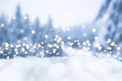 snowy winter christmas bokeh background  circular