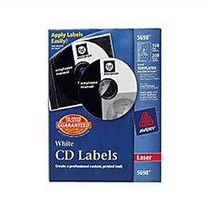 Avery matte white cd labels for laser printers 5698 100 for Avery disc labels