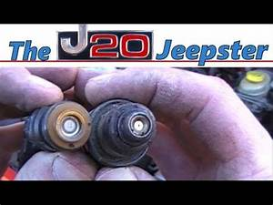 J20Jeepster replacing fuel injectors on Jeep XJ