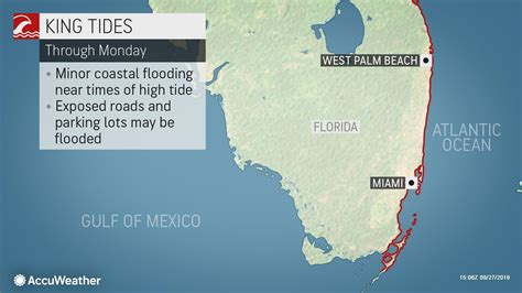 king tide causing record flooding  coastal south florida