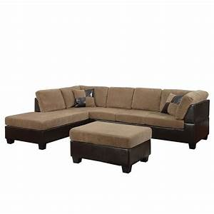 Acme furniture connell 2 piece faux leather sectional sofa for Sectional sofa pieces sold separately