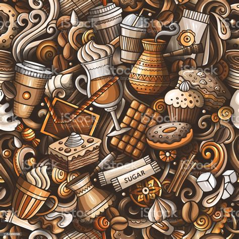 More hd background files free download,please visit pikbest.com. Cartoon Cute Doodles Hand Drawn Coffee Shop Seamless ...