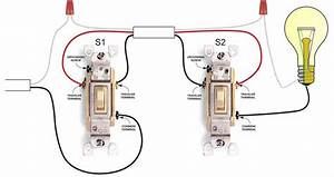 3 Way Switch Wiring Diagram With Schematic