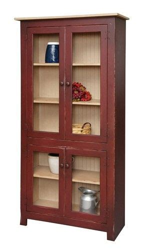 cottage kitchen hutch primitive curio cabinet hutch pantry bookcase country 2651