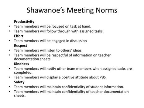 antiochs meeting norms powerpoint  id