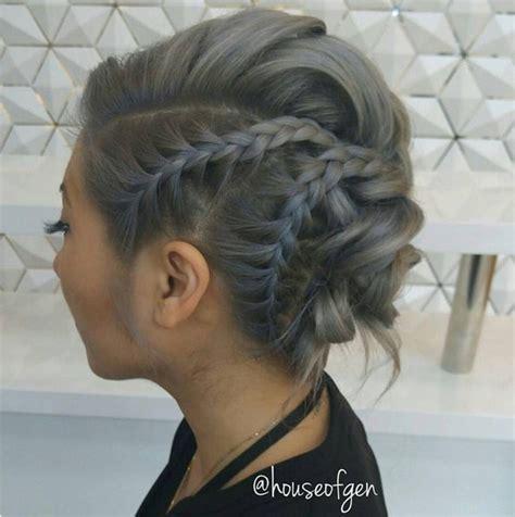 chic braided updos  medium length hair hairstyles
