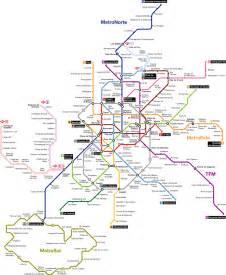 Madrid U-Bahn-Karte, Spanien